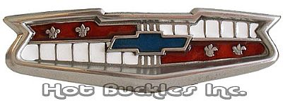 "Chevy Grill Belt Buckle (4"" W x 1.25"" H)"