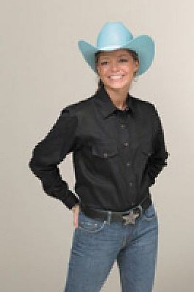 Women's Western Shirt BLACK
