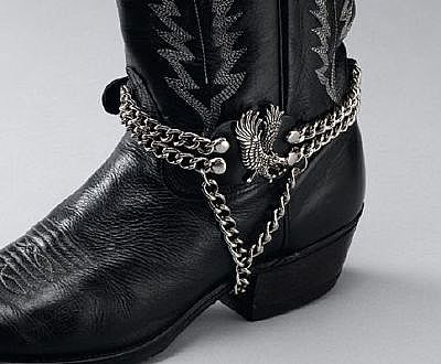 Leather Boot Chains Eagle