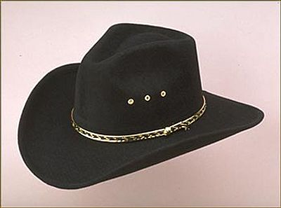 BLACK PINCH FAUX FELT HAT