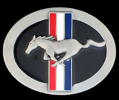 Licensed Ford Mustang Belt Buckle